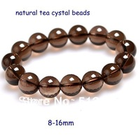 Natural Tea Color Crystal Beads Bracelet Fashion Jewelry Gift For Women Men's Bracelet 0127