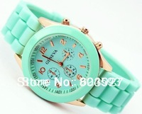 Fashion silicone quartz men/women/girls unisex jelly watch accept drop shipping free shipping
