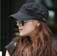 Bell Button Korean Version Pure Cotton Military Cap  Flat Top Baseball Cap Visor Cap wholesale Free Shipping