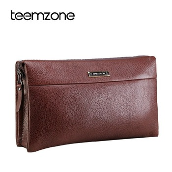 New Brand men day clutch bag cowhide 100% Full grain genuine leather man bag commercial business male handbag