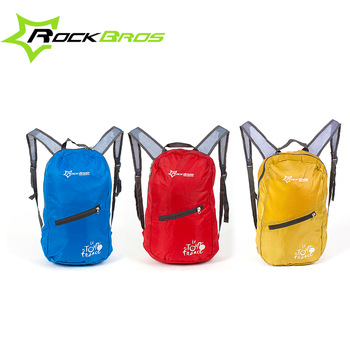RockBros Tour de France Leisure Outdoor Cycling Bike Bicycle Waterproof Ultra-thin Soft Breathable Portable Folding Backpack Bag