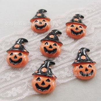 15*22mm 50pcs Free shipping resin flat back cabochon hallowmas pumpkin