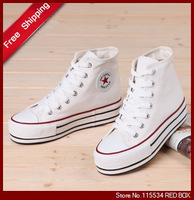 Free shipping high women's  casual shoes canvas shoes for women 35-39 WS0005