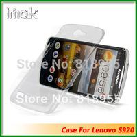 Freeshipping Genuine Brand IMAK Crystal series PC Ultra-thin Hard Skin Case Cover Back For Lenovo S920,10pcs/lot