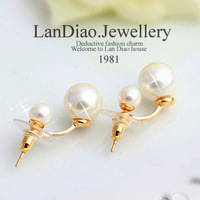 Ocean store jewelry wholesale Accessories star style pearl earring stud earring earrings( min order $10)E419