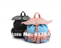 Hot selling Dbb fashion spring HARAJUKU amo ayumi colorant match three-dimensional wings backpack  student shool backpack