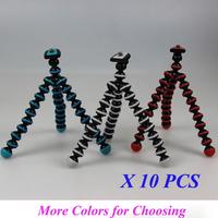 Free ship 10PCS/Lot Multicolors Small Gorillapod Mini Tripod Octopus Flexible w/Rotating Ball Platform For Digital Camera