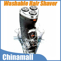High Quality Washable Waterproof 3 Heads Rotary Electric Shaver Beard Hair Razor Rechargeable Black Free Shipping Drop Shipment