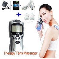 Free Shipping+Drop Shipping Tens Massager Acupuncture Body Massager Digital Therapy Machine slim massager US,EU, AU Adapter