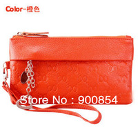 2013NEW !!! fashion passport bag leather clutch wallet women holder /ladies' wallets/Wave pattern coin purses