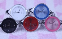 Free Shipping 10pcs/lot wholesale newest fashion KIMIO watch lady circular bracelet quartz Stainless steel wristwatch