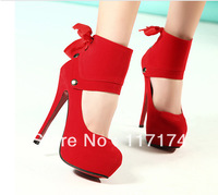 free shipping Sexy high-heeled shoes princess shoes platform 2013 red wedding shoes fashion shoes