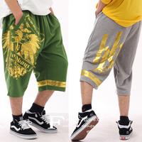 Men Skateboarding Shorts Large Size 46 48 Hip-hop Harem  Doodle  Male Capris Sport  Trousers Basketball Slacks  Sweatpants