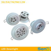 Anti-fire plastic 3W 5W 7W 9W 12W led downlight good for kitchen room restroom No UV good light 3 years warranty