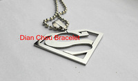 FreeShipping Fashion Jewelry Superman Logo-Shaped S Pendant 316L Stainless Steel Necklaces Mens Necklaces for men and wonen S01