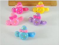 Cartoon lovely dot bowknot hairpin   Free shipping