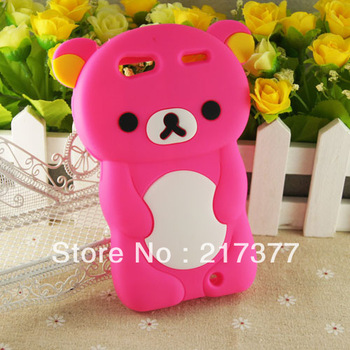 New 3D Cute Lazy Bear Silicone Soft Case For Motorola Droid RAZR XT912 XT910 Free Shipping
