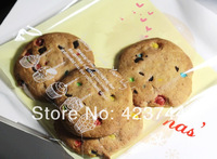 Wholesale 2013 cupcake clear cookie/biscuit plastic gift bag for food gift packaging 13*13+4 cm