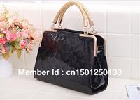 New handbags 2013 European and American fashion leopard handbag Embossed Leather Messenger