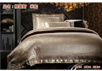 New arrival 4pc purple king size comforter set luxury quilted bedspreads romantic bed cover quilt cover set