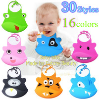 free shipping 20pcs/lot FDA food grade baby bibs silicon apron clothing fashion carters bib for kids boy and girl for feeding