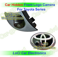 Car Front View Logo Embeded Camera For Toyota car With Waterproof IP67 +170 Wide Degree + HD CCD night vision + Free Shipping