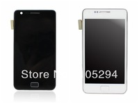Free Shipping  For Samsung Galaxy S2 i9100 LCD with Touch Screen Digitizer Assembly With Frame -White   color