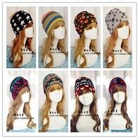 Fashion lady 5Color thick warm wool cotton turban headband elastic headbands hair bands hair accessories for women bandana scarf