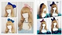 Fashion 6Color korean lovely bow bunny rabbit ears butterfly Velvet headbands for women hair accessories Black Pink hair band