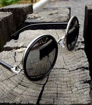 2013NEW designer  free shipping! Vintage Retro Sunglasses Round Circular Metal Frame UV400