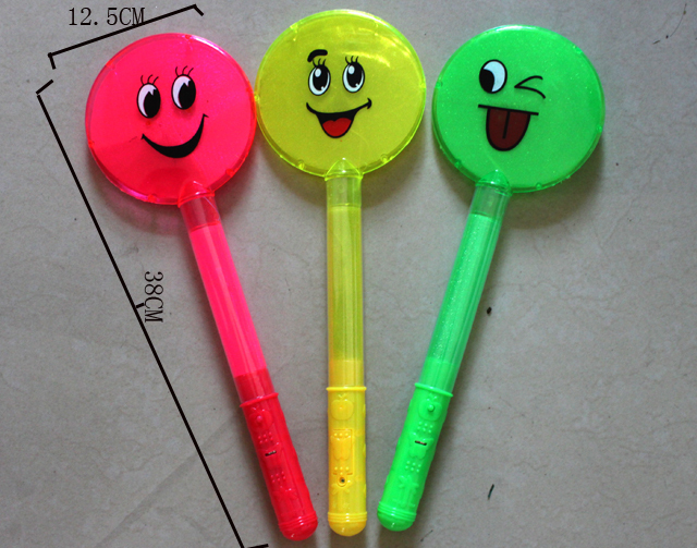 2013 New Large smiley flash stick e-rod glow stick neon stick glow stick toy(China (Mainland))