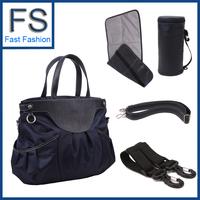 fashion nappy bag multifunctional diaper bag large capacity portable cross-body Free Shipping 2013 New Gemila