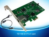 Promoting Price free shipping TE110E pci express  E1  card