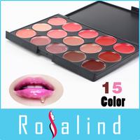 Rosalind FREE SHIPPING ! Best Multicolor Makeup 15 Colors Professional Glitter Lipstick  Palette Online Lips