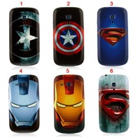 1PCS:Iron Super Man Captain America  Housing Plastic Case for Samsung Galaxy S3 mini i8190