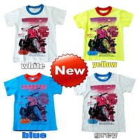 Free shipping lowest! boys t-shirts Wholesale kids fashion t-shirts children clothing this 4pcs/lot children motor bike t shirt