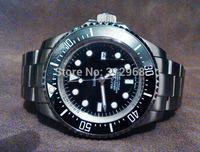 perpetual mechanical auto self winding green blue ceramic bezel luxury wrist watch for men