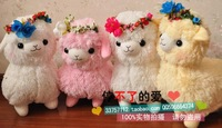 Free shipping! Arpakasso amuse super soft plush alpaca with wreath, 35cm, 4 kinds; Toy sheep