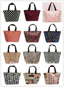 Women's canvas shopping bag Handbags fashion beach bags Tote Shoulder Bag lunch bags oxford fabric women's handbag Free Shipping