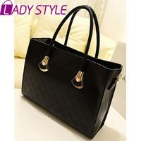 LADY STYLE 2015 hot fashion casual shoulder bag vintage women handbags plaid Women messenger bags HL212