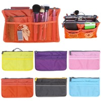 Lady's Cosmetic Storage Pouch Purse Large Liner Tidy Travel multi functional cosmetic bag in Bag organizer A handbag 6 Colors