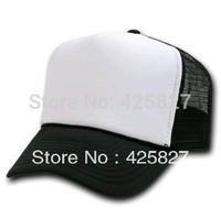Unisex Classic Trucker Baseball Golf Mesh Cap Hat - Black and Whitte