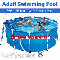 Adult Swimming Pool 366 cm 76 cm Free Ladder Filter Pump Tarpaulin Support Inflatable Swiming Pool All Accessories