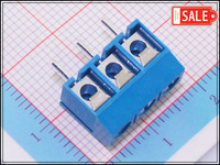 Wholesale (100Pcs/lot) 5.00mm Pitch 3 Pins PCB Electrical Screw Terminal Block Connector Header
