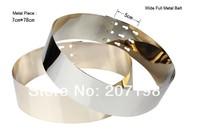 women wide Gold Full Metal plate Metallic Mirror Belt cummerband