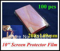 100PCS 10 inch 208*149mm LCD screen protector screen protective film screen guard for 10'' GPS naviagrtor, tablet pc, PDA