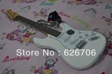 frete grátis branco Stratocaster Rosewood fingerboard China Guitarra(China (Mainland))