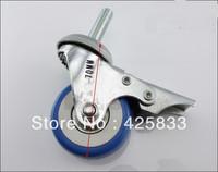 50mm Screw Brake Rubber  Polyurethane Plastic Swivel Nylon Desk PU Polyurethane Caster Wheel 110kg