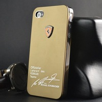 Fashional Back Mental Cover With Luxury Car Logo Design Case For  Iphone4/4S Case Freeshipping With Retail Package Box