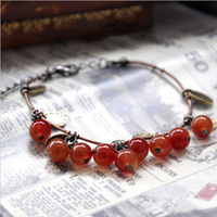2013 New Arrival Free Shipping Small Sweet Cherry Bracelets For Women Fashion Bracelet Wholesale And Retail BL0123
